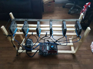 6 GPU mining rig for crypto coins