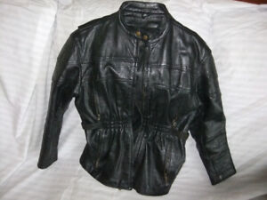 Ladies Black Riding Chaps and Leather Coat