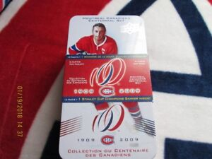 MONTREAL CANADIANS CENTENNIAL TINS AND CARDS