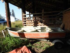 12' Aluminum Boat with Trailer & Motor