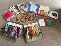 Bundle of cross stitch items