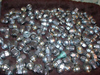 OVER 130 CAR WHEEL LUG NUTS USED CONDITION MIXED LOT