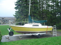 Kells 23 Sailboat with 8 HP Honda Long Shaft and Trailer