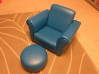 Children armchair and footstool