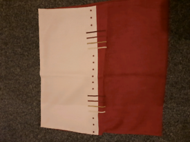 New tab top curtains 2 pairs + 5 cushion covers