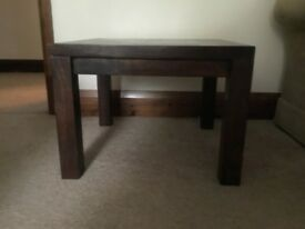 Side table mahogany x2