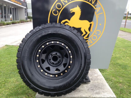 "4X BRAND NEW 16"" SUNRAYSIA BEAD STYLE WHEELS + GENERAL MUD TYRES Preston Darebin Area Preview"
