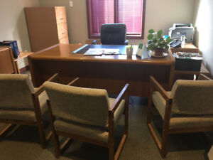 Free office furniture set