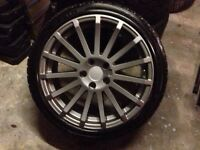 "Ford 17"" alloys and tyres . 5 x 108 . Focus / Transit connect"