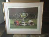 """The Grey Cup"" Lithograph of Ken Danby painting"