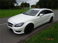 Mercedes-Benz CLS63 AMG Shooting Brake 7G-T Plus 2014/14 Reg /White /Red Leather