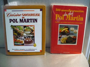 LIVRE DE RECETTES  POL MARTIN ( 2 POUR $ 16.00 )