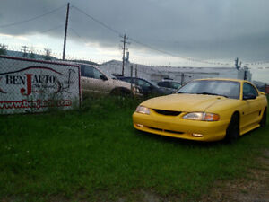 1995 Ford Mustang GT 5.0 Yellow 5 speed