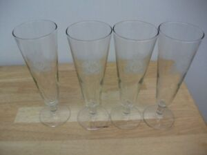 RCMP Embossed Pilsner Glass set of 4