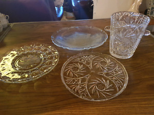 Crystal dining pieces