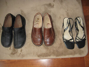 three pairs shoes