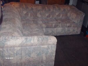 sectional and a loveseat