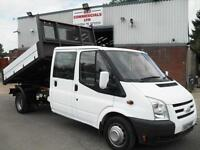 FORD TRANSIT CREW D/CAB TIPPER, VERY NICE VEHICLE, DRIVES GREAT, NO VAT!!
