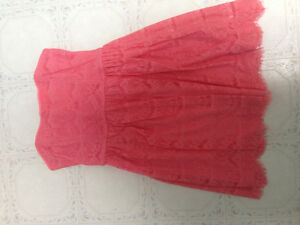 Short pink summer dress