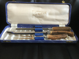 Charles Barber antique carving knife set