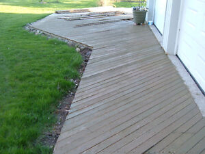 600 sq feet of used 1x4 cedar decking