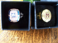 2 molson canadian nhl stanley cup rings Montreal and Tampa