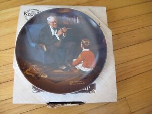 "Norman Rockwell Collector Plate ""The Tycoon"" Cambridge Kitchener Area image 3"