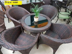 Brand New Outdoor Patio / Garden Furniture with Synthetic Resin