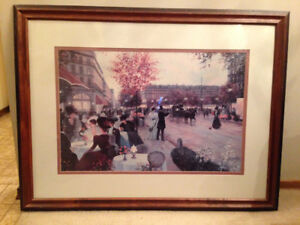 Large framed print of painting