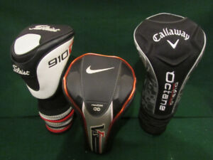 Golfing Head Covers for Drivers, Woods, Hybrids