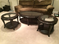 3 piece coffee and end table set