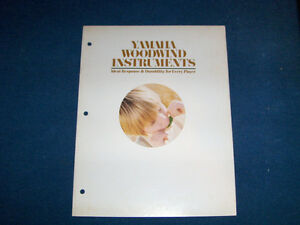YAMAHA WOODWIND INSTRUMENTS-1970'S CATALOG-CLARINETS-SAX+
