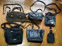 20 Awesome Black Purses Large-carry bags short & long straps!