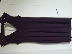 Plum mother of the bride dress.