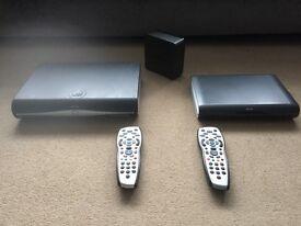 Sky HD Box plus multi room box, Router