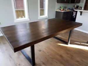 Brand new metal legs dining table