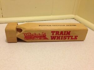 Wooden Train Whistle Toy Railway Collectable For Kids