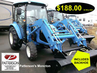 TRACTOR,LS,3037,WITH LOADER & BACKHOE,4X4,MONCTON