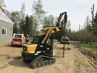 SCREW PILES , FENCE POST HOLES , DECK PILES