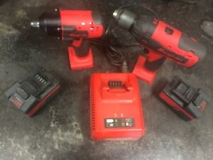 Snap on 18 volt Cordless tool set