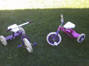 2 KIDS TRIKES /TRICYCLES FOR SALE (GIRLS OR BOYS BIKE)