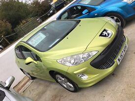Peugeot 308 76,000 12 months mot 6 months warranty