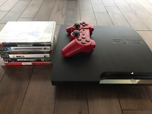 PS3 slim 120 gig bundle (6 jeux + 1 manette)