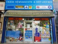 CHASE NEWSAGENTS & OFF LICENCE FOR SALE IN WIMBLEDON , REF: RB275