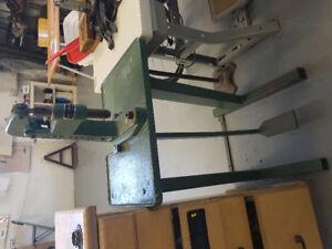 Rivet, snap, grommet eyelet press, foot operated. MT Royal brand