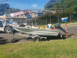 12FT fishing tinnie with trailer & 15HP Yamaha, 12months rego