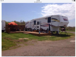 2007 39ft fifth wheel sold on Lot at Sandy Beach campground