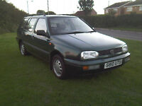 volkswagen golf, mk3 estate 1.8 petrol, NEW MOT.