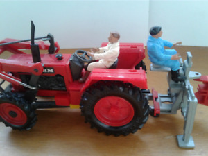 RARE Towse RED VOLVO BM tractor Vintage 1980