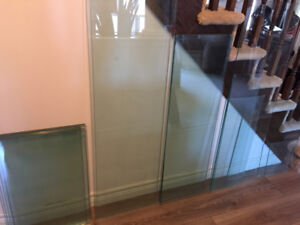 18 glass shelves perfect for crafts -various sizes